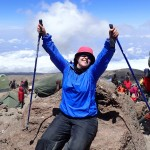 Laura on Kili