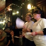 Ali and Laura announcing the rules for the first and only 2013 challenge