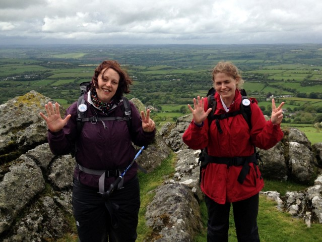 Laura and Ali during the Ten Tors Challenge as part of the 2014 Challenges