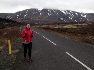 Running in Iceland as part of the 2015 challenges for Remembering Not to Forget