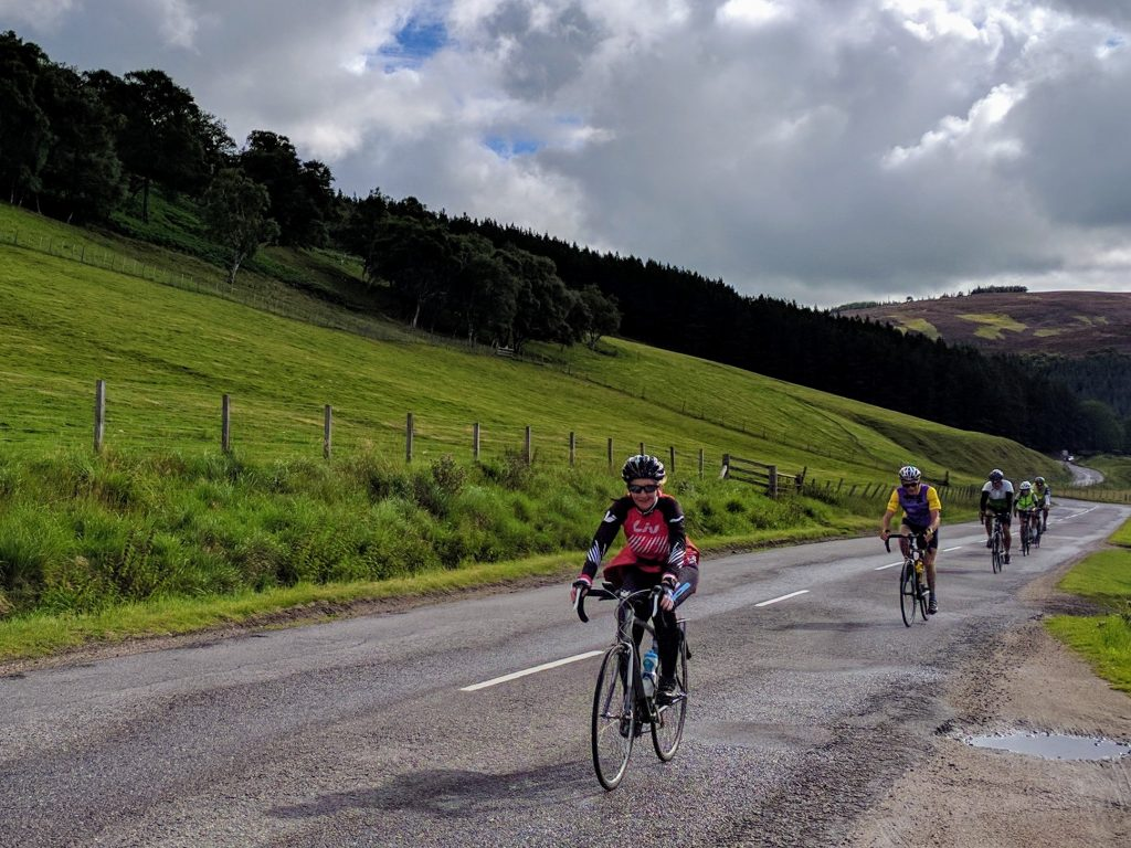 Cycling towards the Lecht