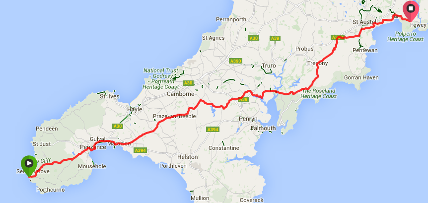 Lejog route day 1