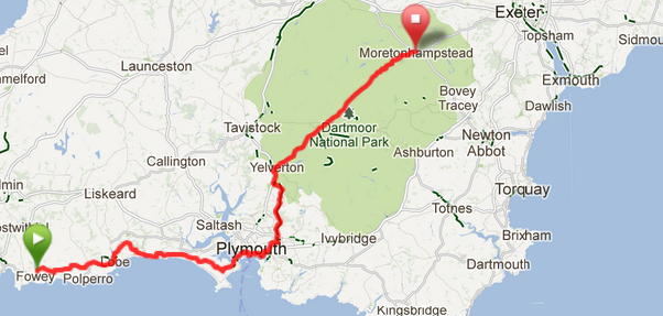 Lejog route day 2